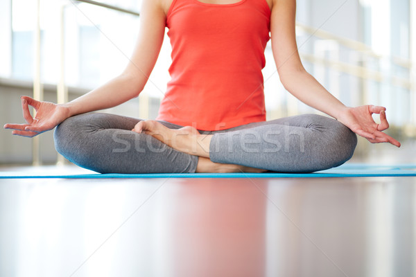 Lotus position Stock photo © pressmaster