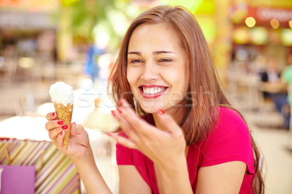Girl with ice-cream Stock photo © pressmaster