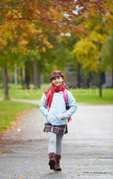 Cheerful schoolchild Stock photo © pressmaster