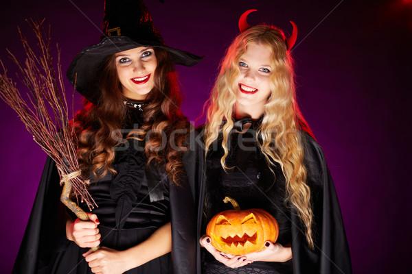 Happy witches Stock photo © pressmaster