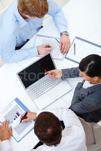作業 会議 表示 ビジネス ストックフォト © pressmaster