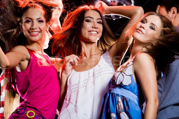 Clubbing drie meisjes disco Stockfoto © pressmaster