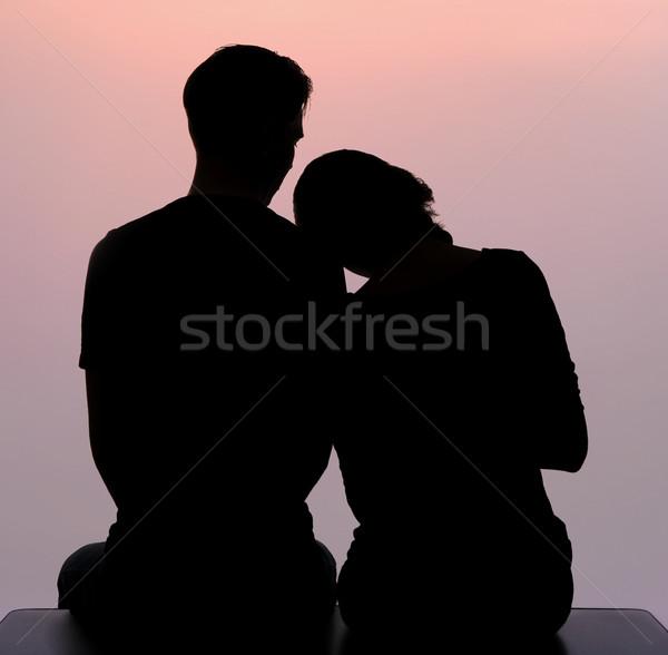 Genegenheid schets liefhebbend vrouw hoofd schouder Stockfoto © pressmaster