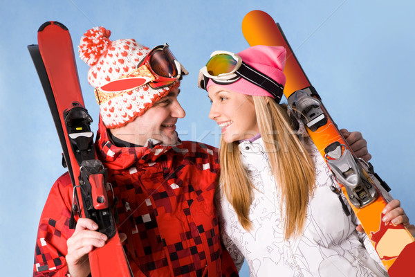 Happy skiers Stock photo © pressmaster