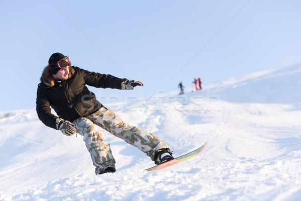 équilibre image snowboard temps libre neige Photo stock © pressmaster