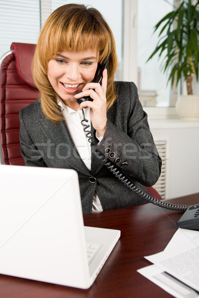 Modern businesswoman Stock photo © pressmaster