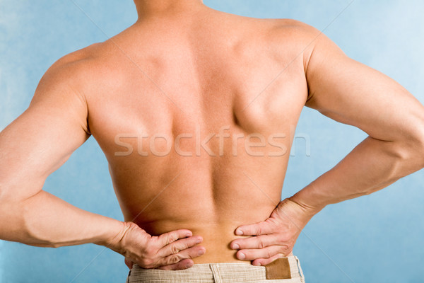 Stock photo: Male back