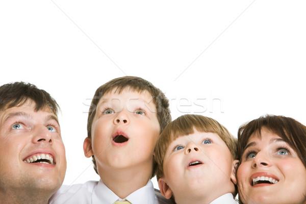 Zdjęcia stock: Niespodzianką · Fotografia · zdziwiony · rodziny · patrząc · grupy