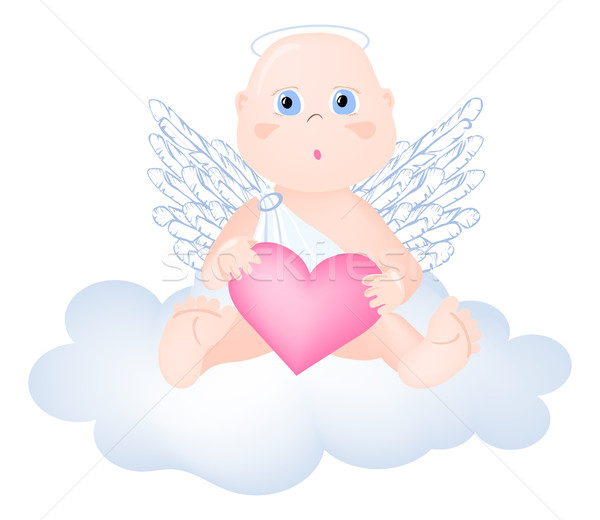 Angel-with-heart Stock photo © pressmaster
