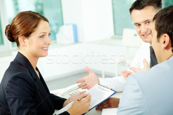 De trabajo momento retrato amistoso profesionales planificación Foto stock © pressmaster