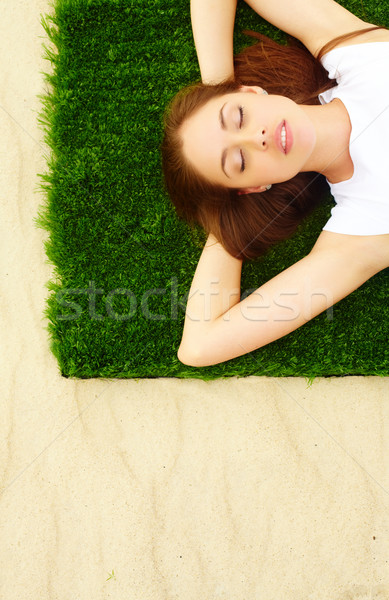 Estate comfort ritratto bella giovani signora Foto d'archivio © pressmaster