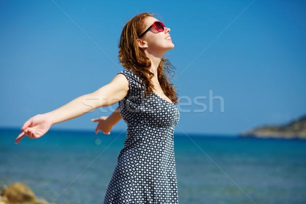 Genieten warmte jonge schoonheid zomer zon Stockfoto © pressmaster