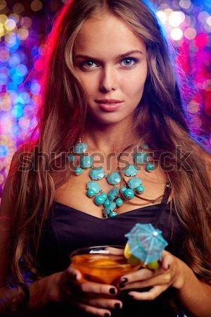 パーティー 少女 垂直 ショット 愛らしい 女性 ストックフォト © pressmaster