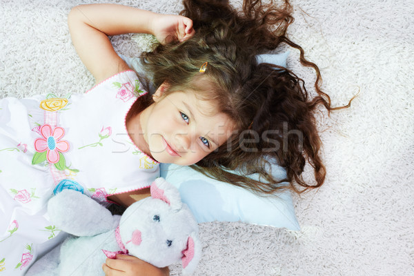 Masum çocuk portre kız mutlu oyuncak Stok fotoğraf © pressmaster