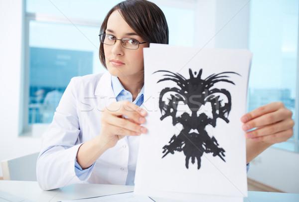 Stock photo: Presenting Rorschach inkblot