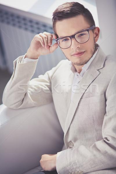 Flancos fickó portré vonzó férfi hivatalos Stock fotó © pressmaster