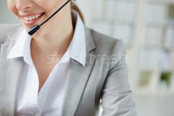 Smile of female operator Stock photo © pressmaster