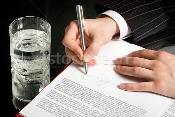 Signature Stock photo © pressmaster