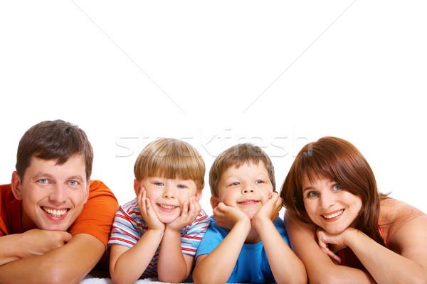 ストックフォト: 連帯感 · 家族 · 見える · カメラ