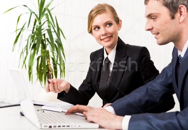 Сток-фото: консультация · портрет · исполнительного · сотрудник · глядя · Бизнес-партнер