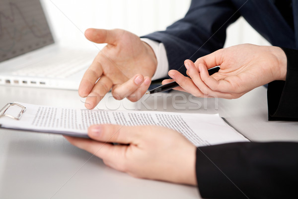 Stock photo: Contract point
