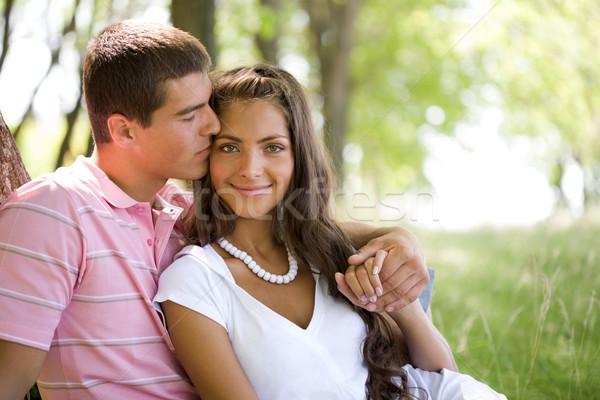 счастливым момент изображение человека целоваться Сток-фото © pressmaster