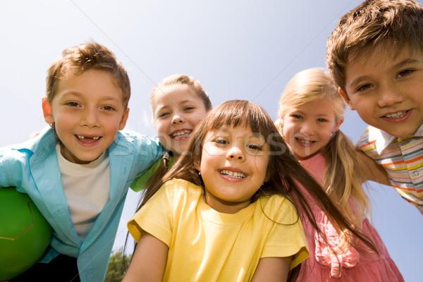 Stockfoto: Gelukkig · kinderen · portret · ander · lachend