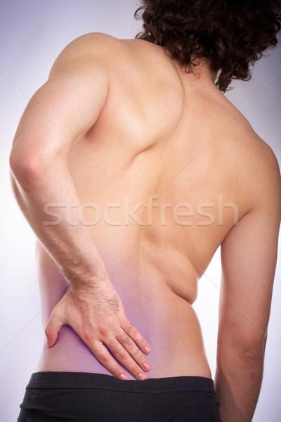 Pain in back Stock photo © pressmaster