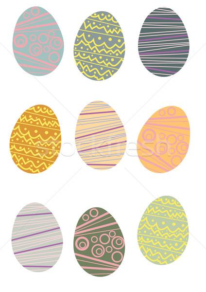 コレクション イースターエッグ イースター 食品 デザイン 塗料 ストックフォト © pressmaster