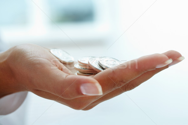 Coins in hand Stock photo © pressmaster