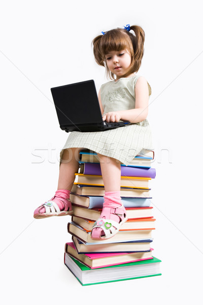 Stock photo: Little pc user