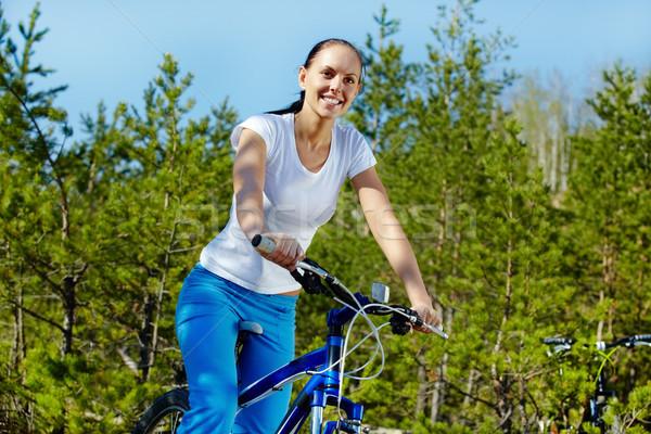 верховая езда велосипед довольно женщину спорт Сток-фото © pressmaster