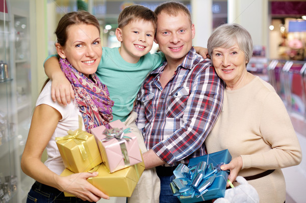 Family in the shop Stock photo © pressmaster