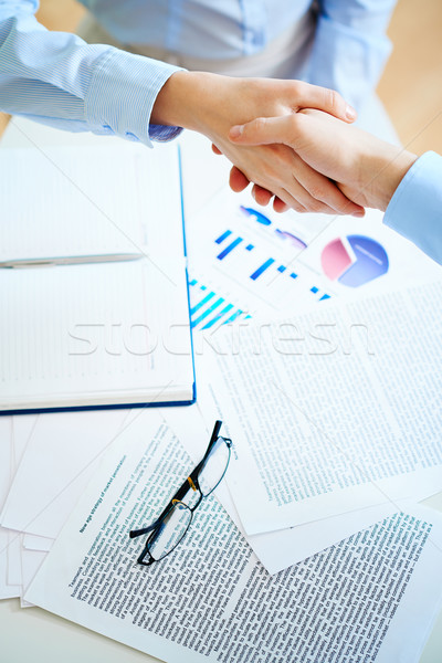 Handshaking Stock photo © pressmaster