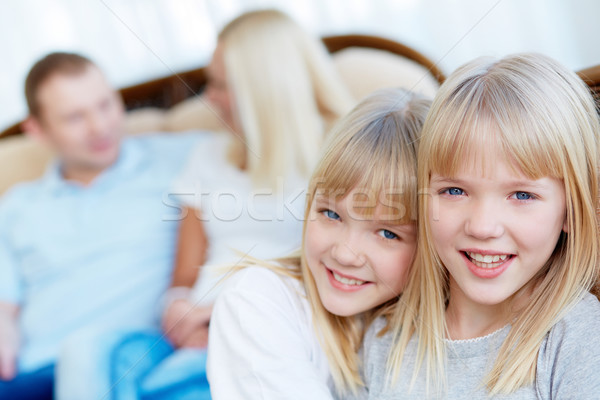 Affectionate twins Stock photo © pressmaster