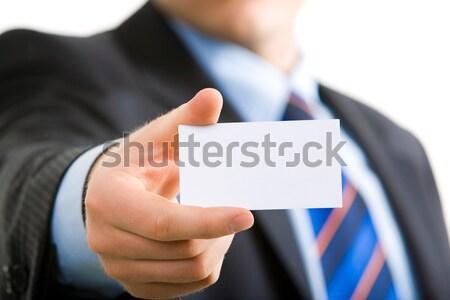 Stock foto: Karte · Visitenkarte · Geschäftsmann · Business · Papier