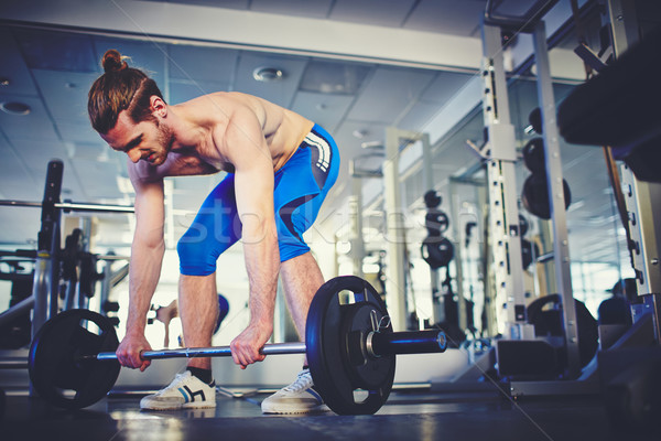 Strong weightlifter Stock photo © pressmaster