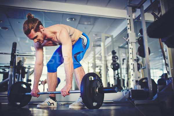 Sterke gewichtheffer portret gewichtheffen gymnasium Stockfoto © pressmaster
