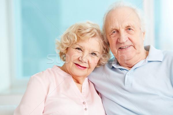 Gelukkig pensioen portret openhartig genieten Stockfoto © pressmaster