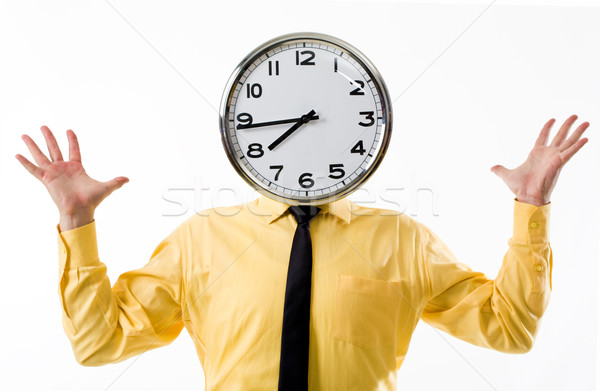 Clock head Stock photo © pressmaster