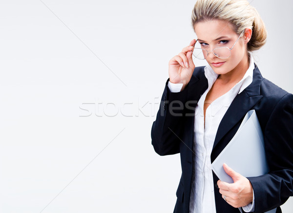 Lady with glasses Stock photo © pressmaster