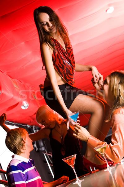 Zdjęcia stock: Taniec · Fotografia · dziewczyna · bar · przystojny · mężczyzna