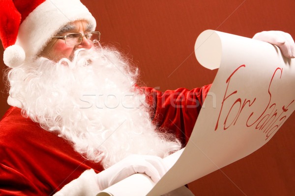 Reading Santa Stock photo © pressmaster