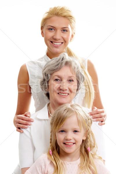 ストックフォト: 女性 · 行 · 女の子 · 祖母 · 母親