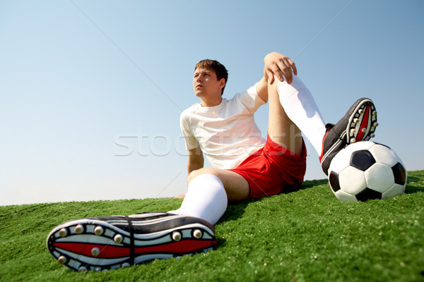 Relaxing sportsman Stock photo © pressmaster