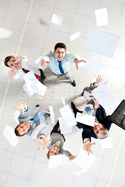 Excitação acima ver vários bem sucedido parceria Foto stock © pressmaster
