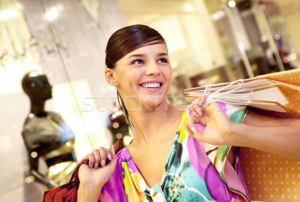 Happy shopaholic Stock photo © pressmaster