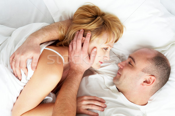 Alszik együtt fotó férj feleség átkarol Stock fotó © pressmaster