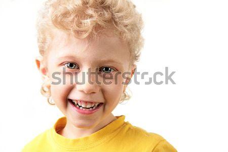 Feliz chico retrato riendo blanco nino Foto stock © pressmaster