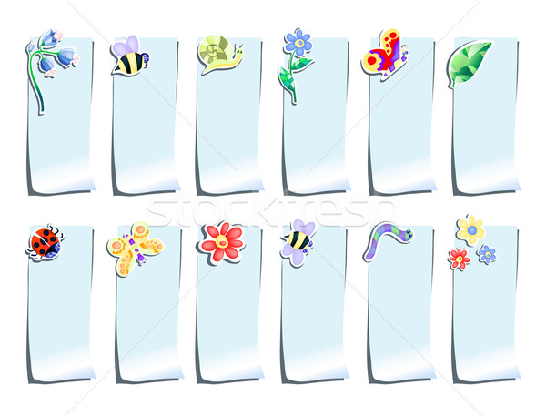Сток-фото: синий · цветы · насекомые · бумаги · бабочка